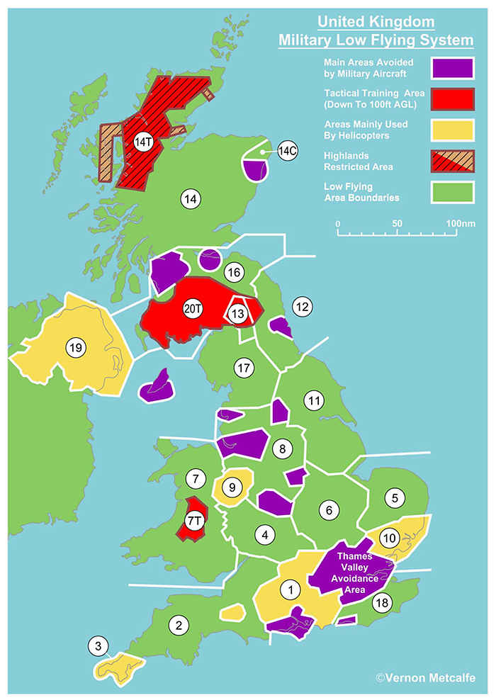 Map Of Uk Highlands.United Kingdom Military Low Flying System